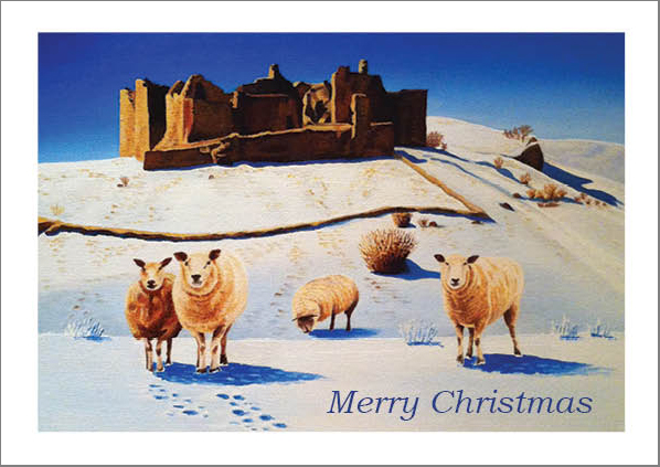 Carreg Cennen Castle Christmas Card